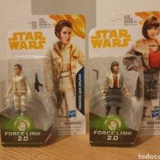 Figuras y Muñecos Star Wars: 2 FIGURA STAR WARS FORCE LINK LEIA Y QI'RA QUIRA. Lote 222602165