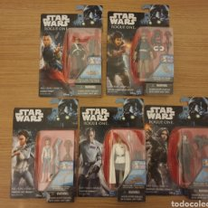 Figuras y Muñecos Star Wars: 5 FIGURA ROGUE ONE STAR WARS LEIA KRENNIK JYN IMWE CASSIAN. Lote 222603478