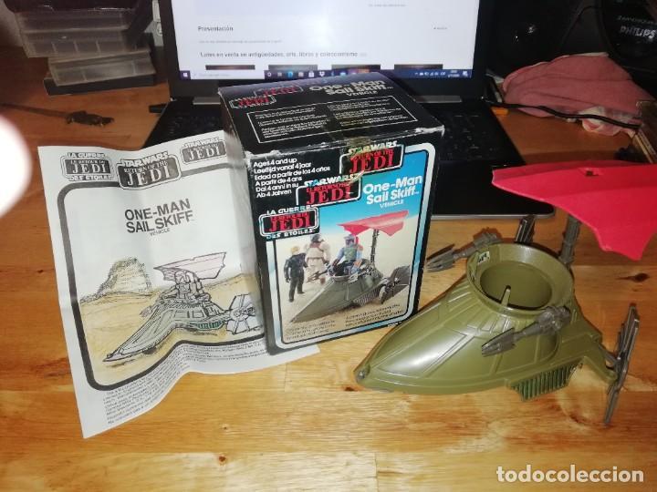 NAVE STAR WARS VINTAGE - ONE-MAN SAIL SKIFF VEHICLE - CAJA ORIGINAL - INSTRUCCIONES (Juguetes - Figuras de Acción - Star Wars)