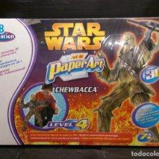Figuras y Muñecos Star Wars: PAPEL ART CHEWBACCA DE MB CREACIÓN AÑO 2005. Lote 223543160