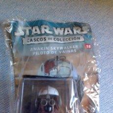 Figuras y Muñecos Star Wars: STAR WARS CASCOS DE COLECCIÓN 18 ANAKIN SKYWALKER PILOTO DE VAINAS. Lote 224284078