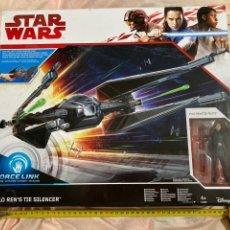 Figuras y Muñecos Star Wars: STAR WARS VEHÍCULO Y FIGURA KILO REN'S TIE SILENCER FORCE LINK. Lote 224418165