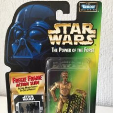 Figurines et Jouets Star Wars: FIGURA C3PO - STAR WARS POWER OF THE FORCE - KENNER HASBRO VINTAGE DROIDE. Lote 225910078