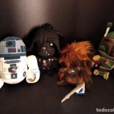 Figuras y Muñecos Star Wars: STAR WARS - LOTE COLECCION DE 5 PELUCHES CON SONIDO - 2010 LUCASFILM.. Lote 230324500