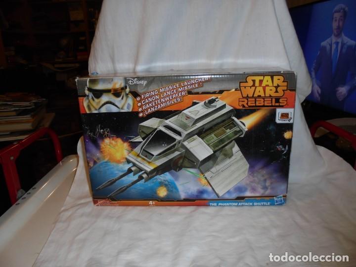 NAVE STAR WARS THE PHANTOM ATTACK SHUTTLE. HASBRO. (Juguetes - Figuras de Acción - Star Wars)