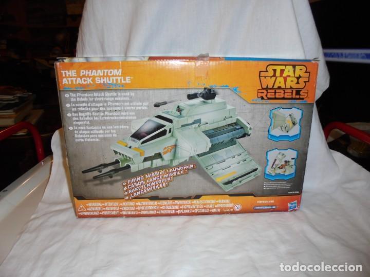 Figuras y Muñecos Star Wars: NAVE STAR WARS THE PHANTOM ATTACK SHUTTLE. HASBRO. - Foto 5 - 230539350