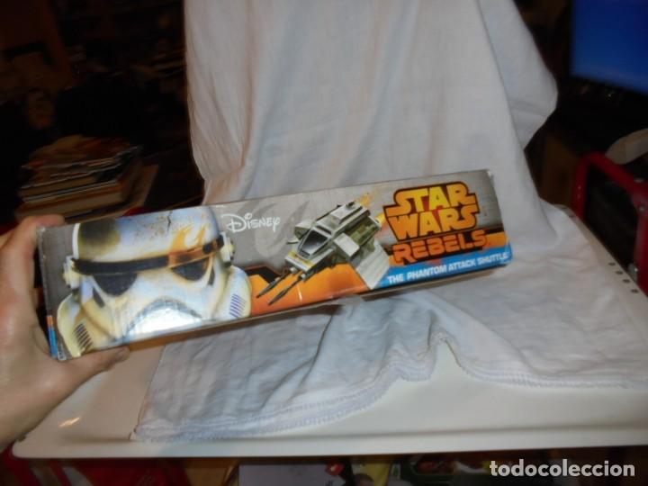 Figuras y Muñecos Star Wars: NAVE STAR WARS THE PHANTOM ATTACK SHUTTLE. HASBRO. - Foto 6 - 230539350
