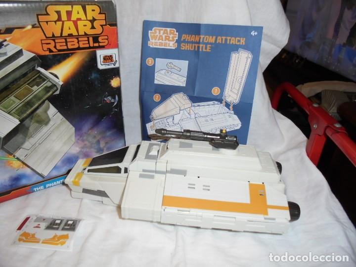 Figuras y Muñecos Star Wars: NAVE STAR WARS THE PHANTOM ATTACK SHUTTLE. HASBRO. - Foto 10 - 230539350