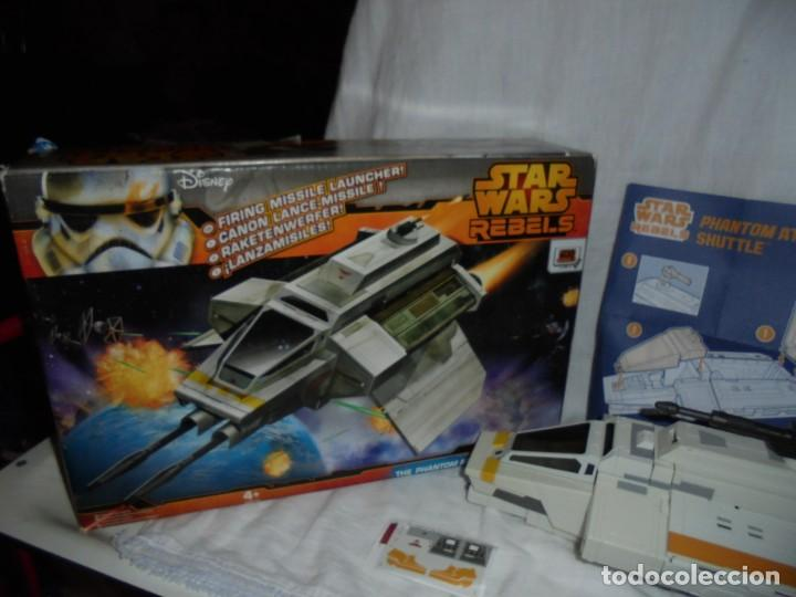 Figuras y Muñecos Star Wars: NAVE STAR WARS THE PHANTOM ATTACK SHUTTLE. HASBRO. - Foto 11 - 230539350