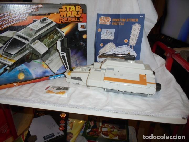 Figuras y Muñecos Star Wars: NAVE STAR WARS THE PHANTOM ATTACK SHUTTLE. HASBRO. - Foto 15 - 230539350
