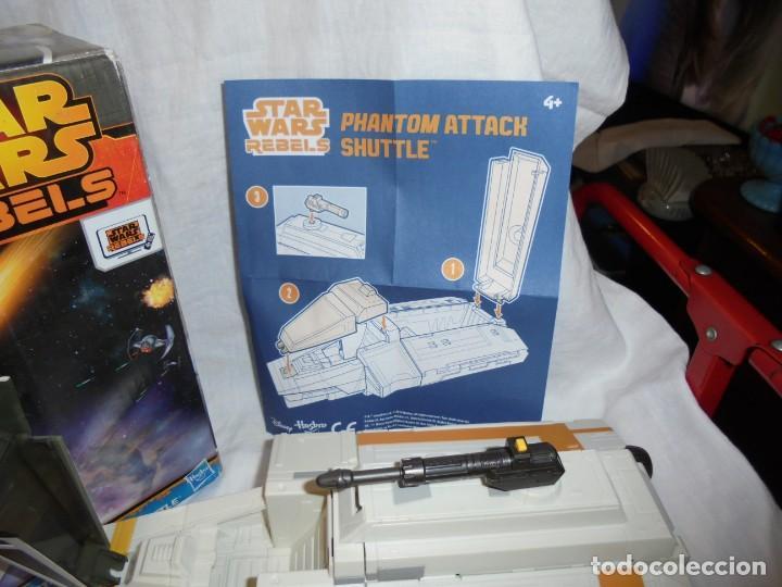 Figuras y Muñecos Star Wars: NAVE STAR WARS THE PHANTOM ATTACK SHUTTLE. HASBRO. - Foto 17 - 230539350