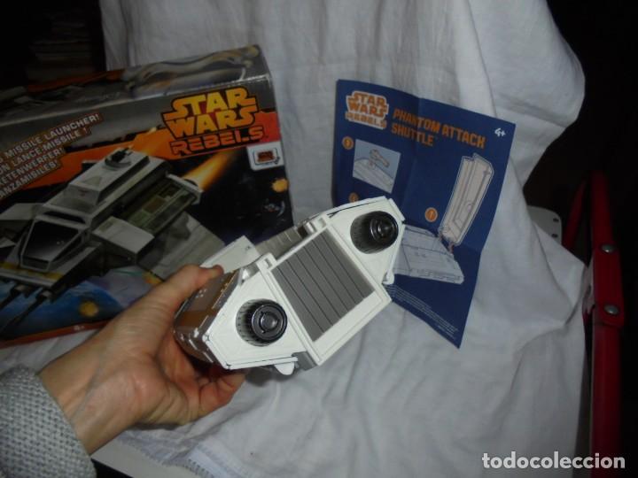 Figuras y Muñecos Star Wars: NAVE STAR WARS THE PHANTOM ATTACK SHUTTLE. HASBRO. - Foto 18 - 230539350