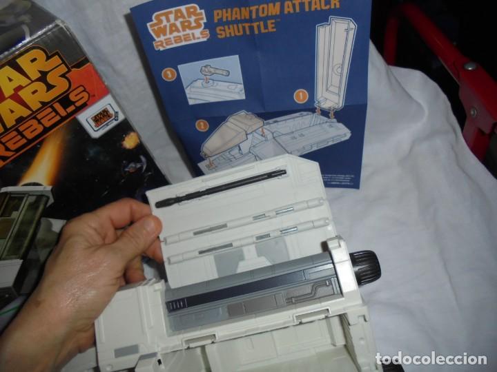 Figuras y Muñecos Star Wars: NAVE STAR WARS THE PHANTOM ATTACK SHUTTLE. HASBRO. - Foto 20 - 230539350