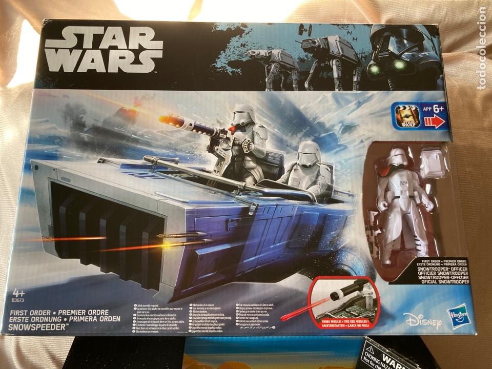 Figuras y Muñecos Star Wars: 2,Vehículos Star Wars nuevos con figuras de 10cm Hasbro,Disney - Foto 2 - 231125220