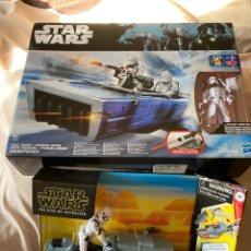 Figuras y Muñecos Star Wars: 2,VEHÍCULOS STAR WARS NUEVOS CON FIGURAS DE 10CM HASBRO,DISNEY. Lote 231125220