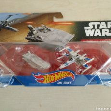 Figuras y Muñecos Star Wars: STAR WARS HOT WHEELS PACK 2 NAVES THE FORCE AWAKENS BLISTER SIN ABRIR MATTEL. Lote 231330040