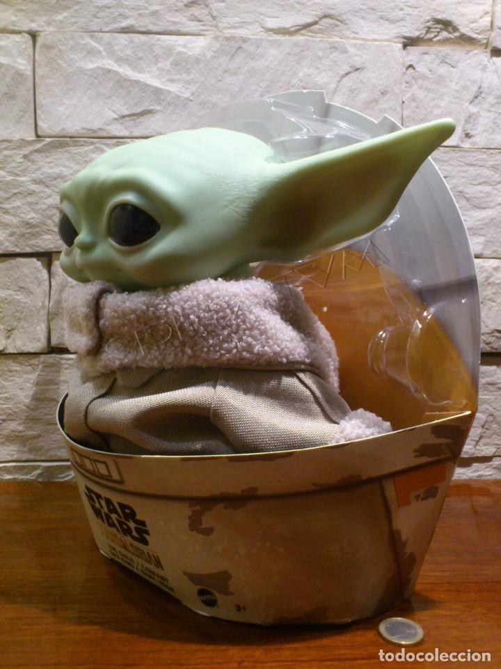 Figuras y Muñecos Star Wars: STAR WARS - THE MANDALORIAN - THE CHILD - EL NIÑO - BABY YODA - GROGU - PELUCHE MATTEL - 28CM NUEVO - Foto 4 - 233263450