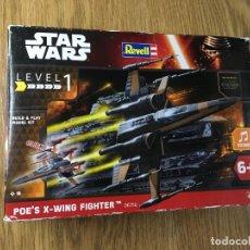 Figuras y Muñecos Star Wars: STAR WARS POE'S X-WING FIGHTER MAQUETA LEVEL 1 DE REVELL 1:78 06750. Lote 233790870