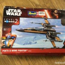 Figuras y Muñecos Star Wars: STAR WARS POE'S X-WING FIGHTER LEVEL 2 MAQUETA DE REVELL 06692. Lote 233792495