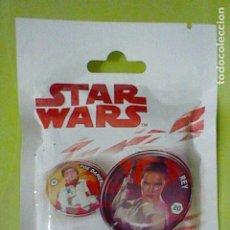 Figuras y Muñecos Star Wars: STAR WARS ESCUDOS GALACTICOS BLISTER SIN ABRIR CON 5 CHAPAS AL AZAR. Lote 235154305