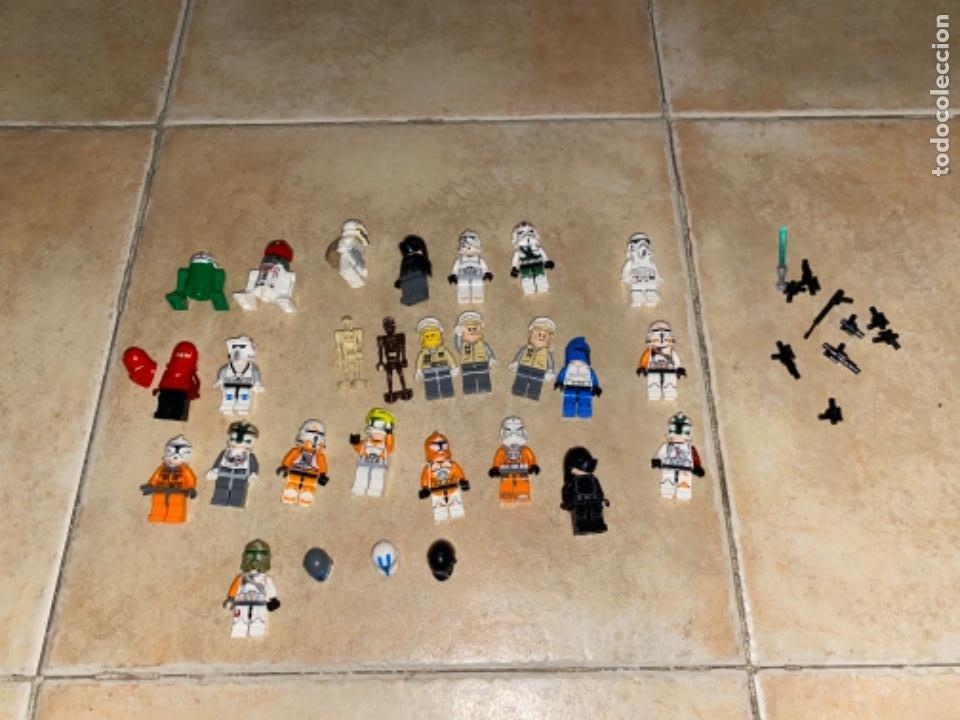 LOTE DE 25 FIGURAS ACCESORIOS LEGO STAR WARS LEGO (Juguetes - Figuras de Acción - Star Wars)