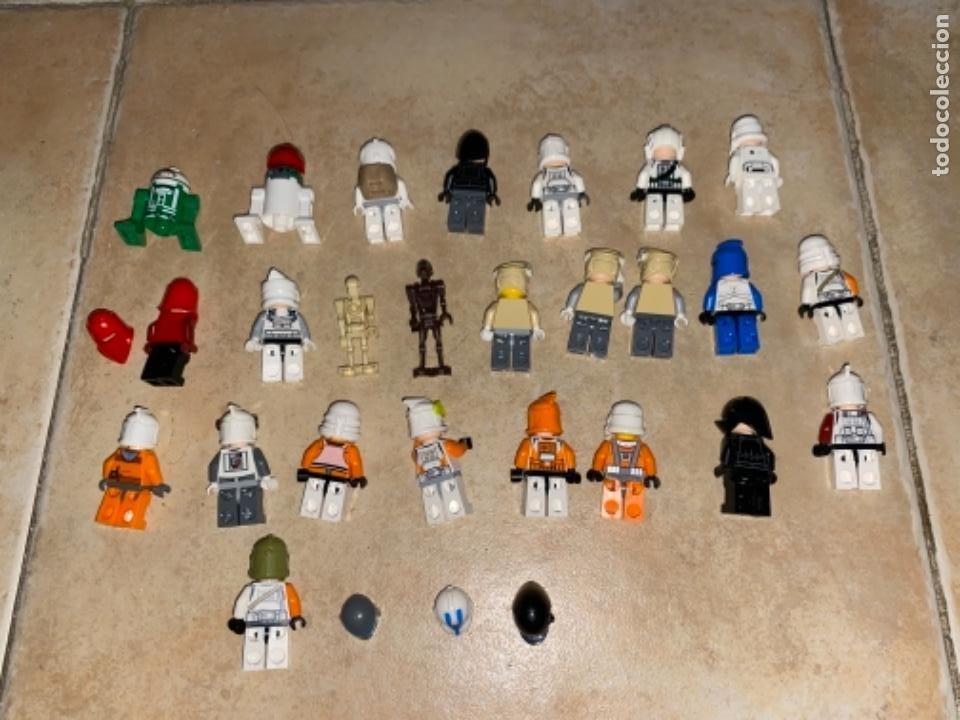 Figuras y Muñecos Star Wars: LOTE DE 25 FIGURAS ACCESORIOS LEGO STAR WARS LEGO - Foto 2 - 236605285
