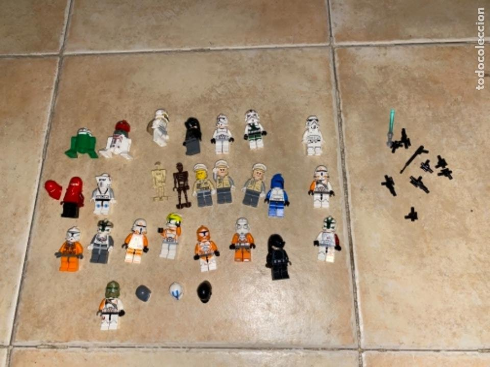 Figuras y Muñecos Star Wars: LOTE DE 25 FIGURAS ACCESORIOS LEGO STAR WARS LEGO - Foto 8 - 236605285