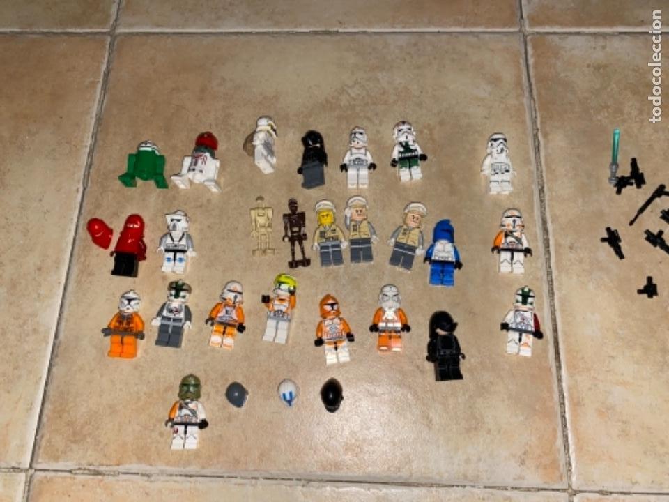 Figuras y Muñecos Star Wars: LOTE DE 25 FIGURAS ACCESORIOS LEGO STAR WARS LEGO - Foto 9 - 236605285