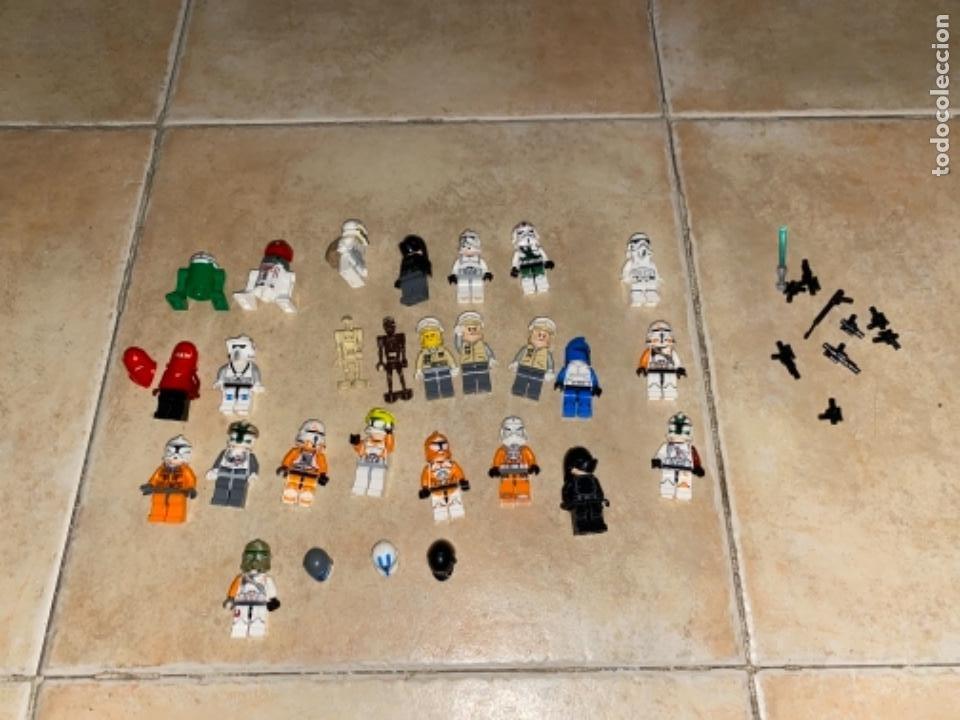 Figuras y Muñecos Star Wars: LOTE DE 25 FIGURAS ACCESORIOS LEGO STAR WARS LEGO - Foto 14 - 236605285