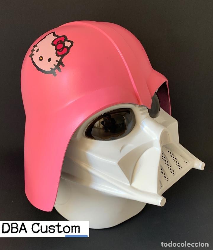 Figuras y Muñecos Star Wars: STAR WARS - DARTH VADER HELMET WEARABLE CUSTOM PAINTED Hello Kitty - Foto 7 - 237004435