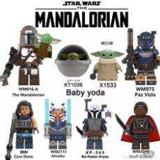 Figuras y Muñecos Star Wars: STAR WARS THE MANDALORIAN - 8 FIGURAS DE CONSTRUCCIÓN. Lote 237289615