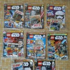 Figuras y Muñecos Star Wars: LOTE 8 REVISTAS CON FIGURAS DE LEGO STAR WARS PRECINTADAS ALGUNAS EDICIONES LIMITADAS. Lote 237943320