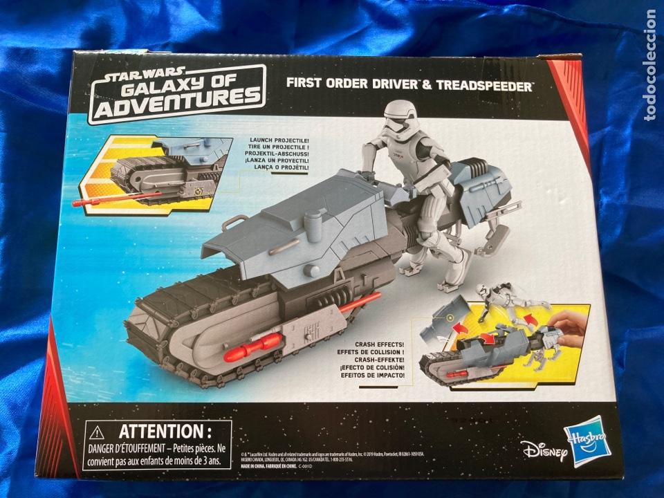 Figuras y Muñecos Star Wars: Star Wars First Order Driver & Treadspeeder Galaxy Of Adventures Hasbro - Foto 2 - 239796355