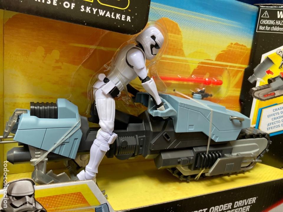 Figuras y Muñecos Star Wars: Star Wars First Order Driver & Treadspeeder Galaxy Of Adventures Hasbro - Foto 4 - 239796355