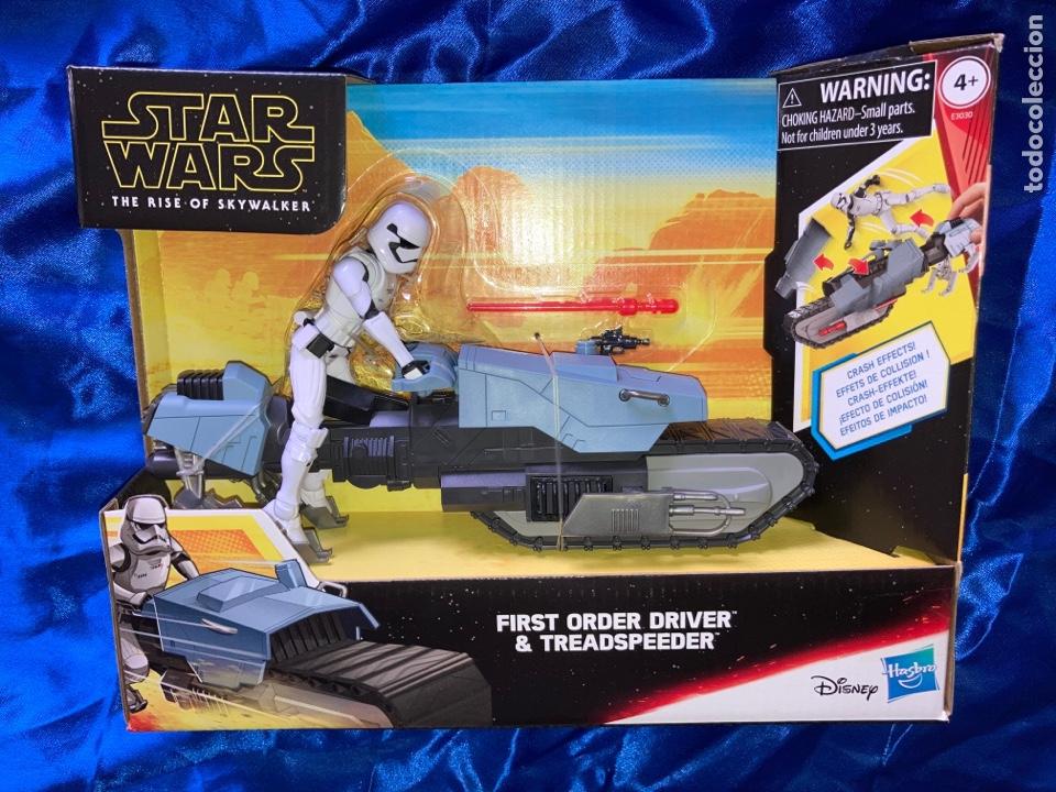 STAR WARS FIRST ORDER DRIVER & TREADSPEEDER GALAXY OF ADVENTURES HASBRO (Juguetes - Figuras de Acción - Star Wars)