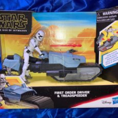 Figuras y Muñecos Star Wars: STAR WARS FIRST ORDER DRIVER & TREADSPEEDER GALAXY OF ADVENTURES HASBRO. Lote 239796355