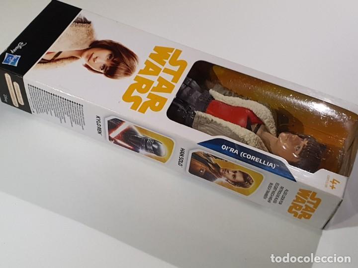 Figuras y Muñecos Star Wars: FIGURA 30 CM. STAR WARS QI´RA (CORELLIA) DISNEY HASBRO NUEVA A ESTRENAR - Foto 5 - 241090070