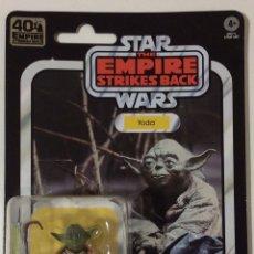"""Figuras y Muñecos Star Wars: FIGURA YODA STAR WARS 40 ANIVERSARIO EL IMPERIO CONTRAATACA BLACK SERIES KENNER HASBRO 6"""". Lote 241272445"""