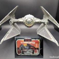Figuras e Bonecos Star Wars: STAR WARS VINTAGE ROTJ TIE INTERCEPTOR W/BOX ORIGINAL KENNER 1983. Lote 242289095