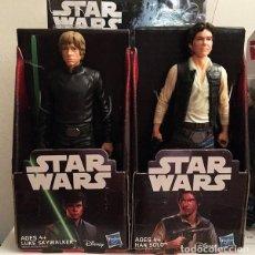 Figuras y Muñecos Star Wars: LOTE 2 FIGURAS STAR WARS HASBRO DE HAN SOLO Y LUKE SKYWALKER NUEVAS. Lote 243298900