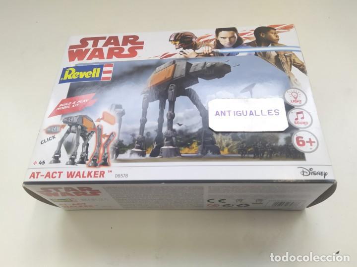 Figuras y Muñecos Star Wars: STAR WARS AT-ACT WALKER 06578 REVELL MODEL KIT,JUGUETE DISNEY - Foto 2 - 243638210