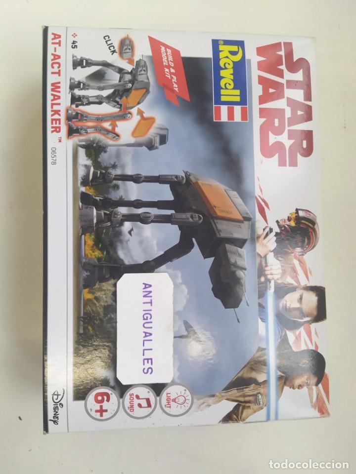 Figuras y Muñecos Star Wars: STAR WARS AT-ACT WALKER 06578 REVELL MODEL KIT,JUGUETE DISNEY - Foto 5 - 243638210
