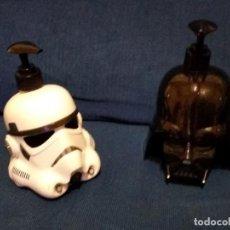 Figuras y Muñecos Star Wars: 2 JABONERAS DE STAR WARS - STORMTROOPER Y DARTH VADER - (AMBAS VACÍAS) PARA COLECCIONISTAS. Lote 244542110