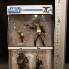 Figuras y Muñecos Star Wars: HEROES KEYCHAIN SET STAR WARS (LLAVEROS) YODA HAN SOLO CHEWBACCA LUKE SKYWALKER SIMBA 2008. Lote 245126970