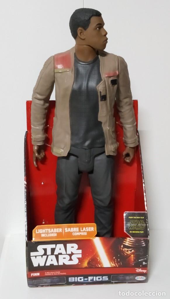 Figuras y Muñecos Star Wars: FIGURA Star Wars Finn BIGS FIGS John Boyega Episodio VI 45cm, Disney, jakks PACIFICS - Foto 4 - 245305855