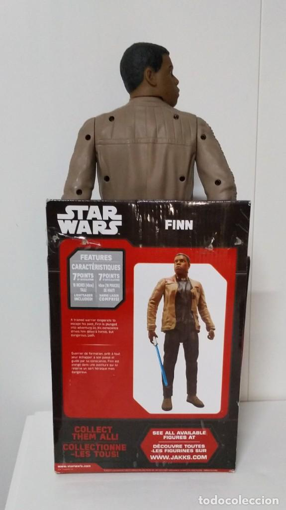 Figuras y Muñecos Star Wars: FIGURA Star Wars Finn BIGS FIGS John Boyega Episodio VI 45cm, Disney, jakks PACIFICS - Foto 8 - 245305855