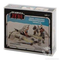 Figuras y Muñecos Star Wars: CAJA ACRÍLICA PARA EXPOSICIÓN STAR WARS VINTAGE SNOWSPEEDER - KENNER PALITORY BILOGO. Lote 246616345