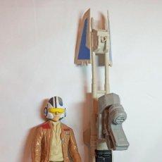 Figuras y Muñecos Star Wars: FIGURA DE ACCION STAR WARS POE DAMERON DE 29 CM Y SPEED BIKE HASBRO. Lote 247057655