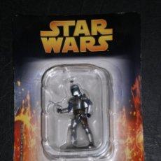 Figuras e Bonecos Star Wars: STAR WARS FIGURA DE METAL - JANGO FETT -, GUERRERO MANDALORIANO-(LUCASFILM & TM LTD 2005) BLISTER SI. Lote 247402720