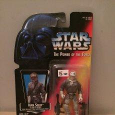 Figuras y Muñecos Star Wars: FIGURA HAN SOLO HOTH GEAR - STAR WARS POWER OF THE FORCE - KENNER HASBRO VINTAGE (SUELTA). Lote 249110840